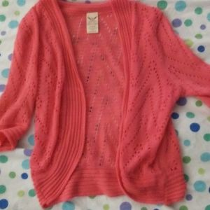 3 FOR $10 SIZE 4\6WOMENS CORAL SHRUG